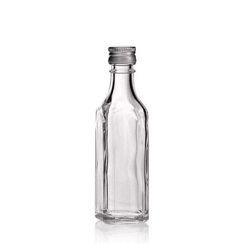 "50ml flaske i klart glas ""Siena"""