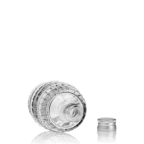 "50ml glazen fles clear ""vat"""