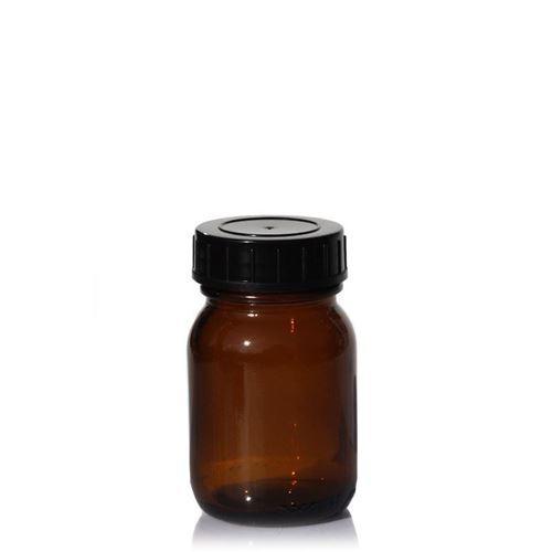 50ml pot col large en verre brun