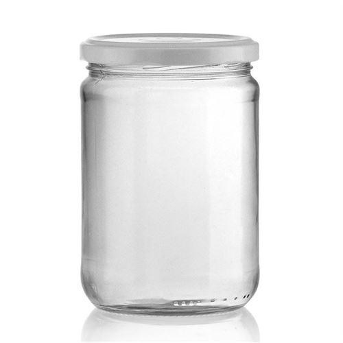 580ml Pot in vetro rotondo con tappo a vite Twist Off 82