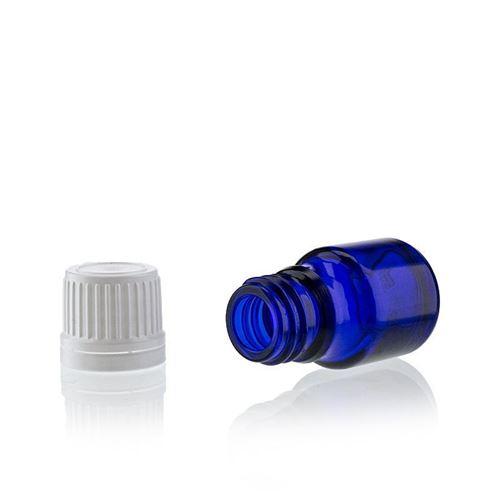 5ml blå medicinflaske, med orginality-lock