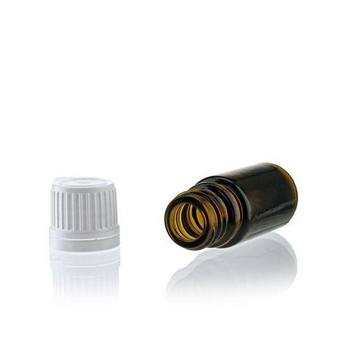 5ml bottiglia medica marrone con chiusura originale