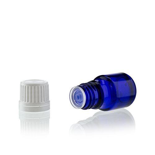 5ml flacon bleu de médecine bleu avec compte gouttes