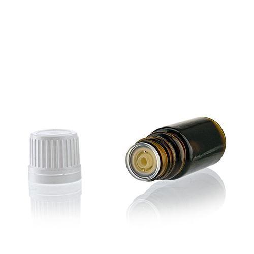 5ml flacon de médecine brun avec compte gouttes