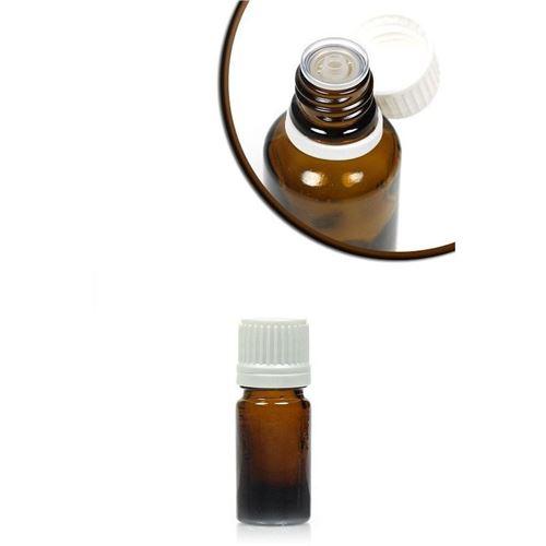5ml bottiglia  medica marrone con chiusura a goccia