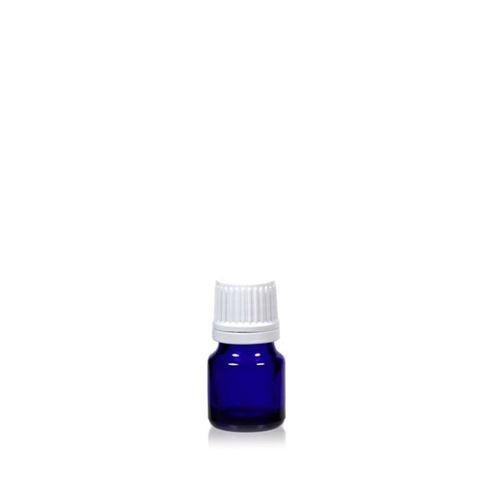 5ml bottiglia per medica blu con chiusura originale