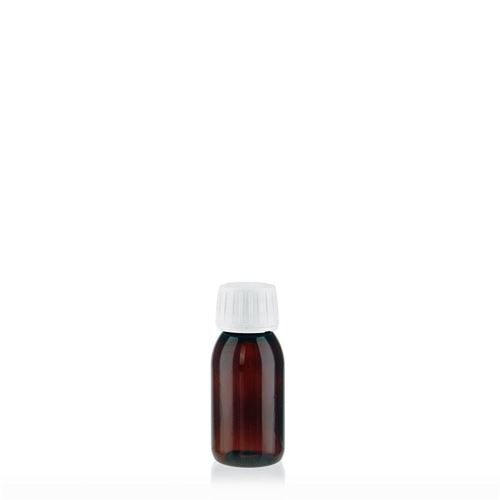 60ml PET-flaske, brun