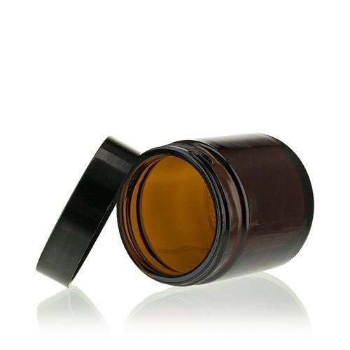 "60ml vasetto in vetro marrone ""Brown Line"""