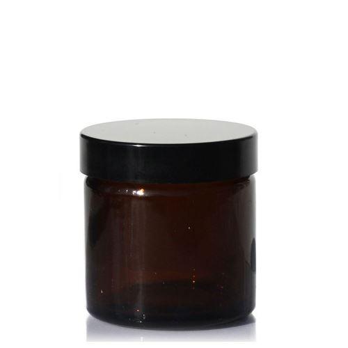 """60ml bruine glazen doos """"Brown Line"""""""