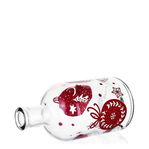 """700ml Weihnachtsflasche """"Baumschmuck"""" bordeaux"""