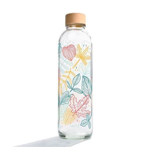 "700ml CARRY botella de vidrio ""Falling Leaves"""