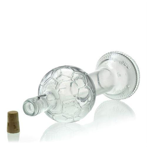 "700ml botella de vidrio transparente ""Copa de fútbol"""