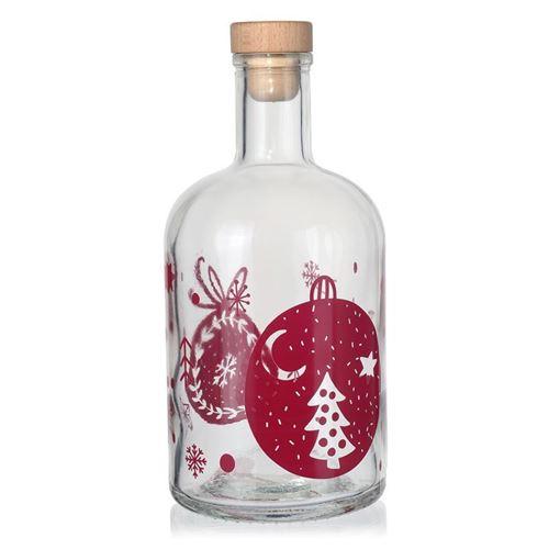 """700ml bottiglia natalizia """"Pallina di Natale"""" borgogna"""