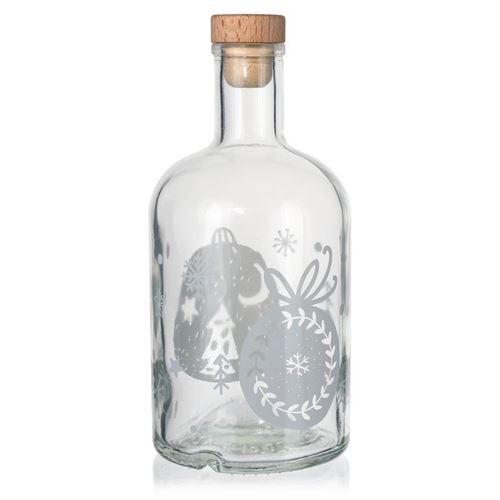 """700ml bouteille de Noël """"Boules de Noël"""" blanc"""