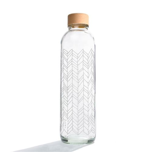 "700ml CARRY glas drikkeflaske ""Structure Of Life"""