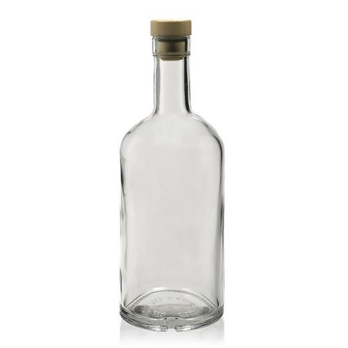 """700ml Bottiglia in vetro chiaro """"Franco"""""""