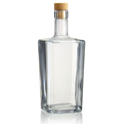 "700ml flaske i klart glas ""Noel"""