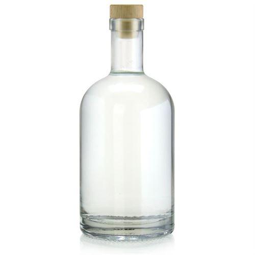 """700ml glazen fles clear """"First Class"""""""