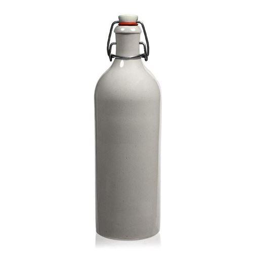 750ml Keramikflaske med patentlåg, hvid