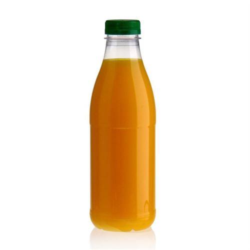 "750ml Botella PET con gollete ancho ""Milk and Juice"" verde"