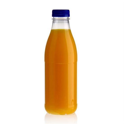"""750ml Bottiglia PET a collo largo """"Milk and Juice"""" blu"""