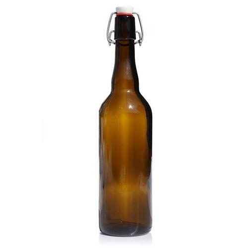 750ml bottiglia per birra in vetro marrone con chiusura meccanica