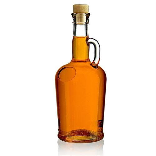 "750ml Klarglasflasche ""Barcelona"" mit Henkel"