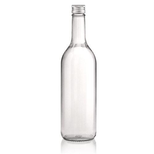 750ml bottiglia in vetro chiaro Bordeaux con tappo a vite