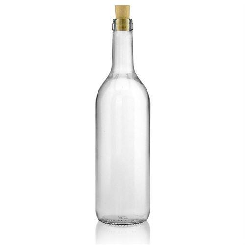 750ml bouteille en verre clair Bordeaux allégée bande