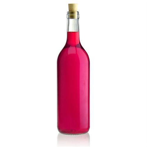 750ml glazen fles clear Bordeaux allegée band