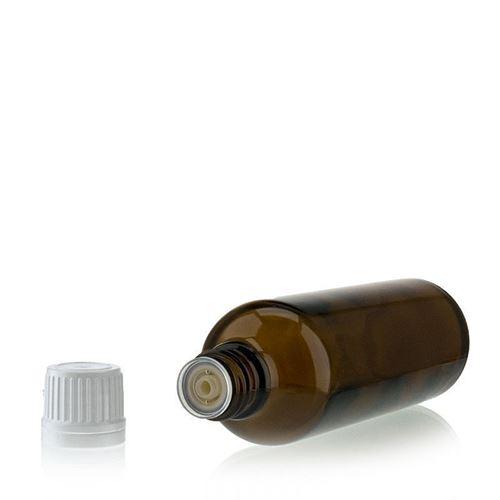 75ml bottiglia  medica marrone con contagocce a caduta