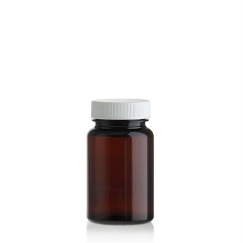 75ml PET Packer-fles bruin