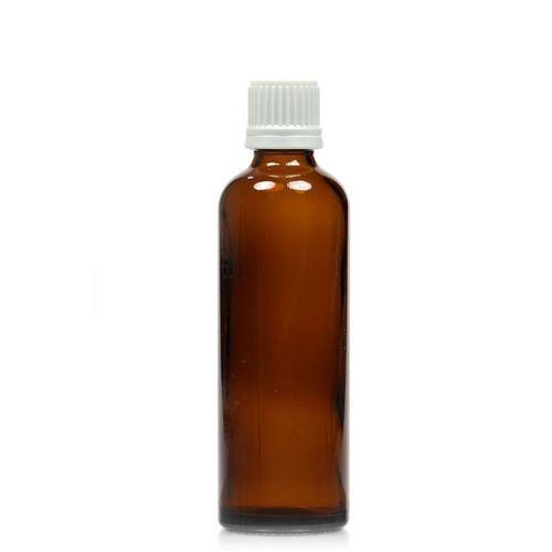 75ml bottiglia medica marrone con chiusura originale