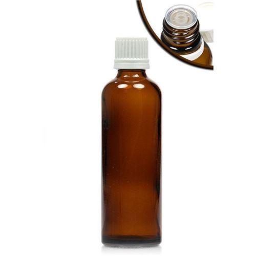 75ml bruin medicijn flesje met druppelteller