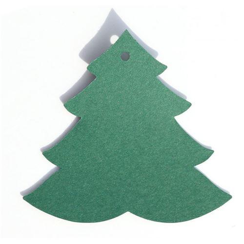 """Aanhanger kaartje """"Kerstboom"""" - groen"""