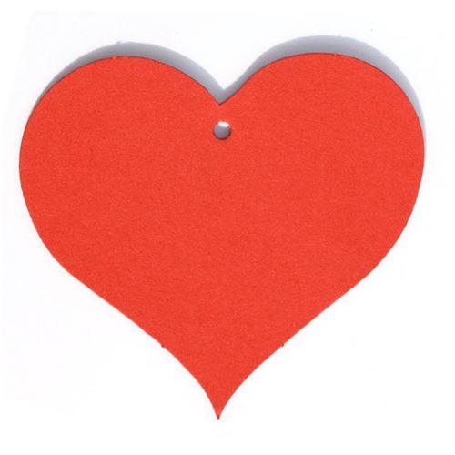 """Aanhanger kaartje """"hart"""" rood"""