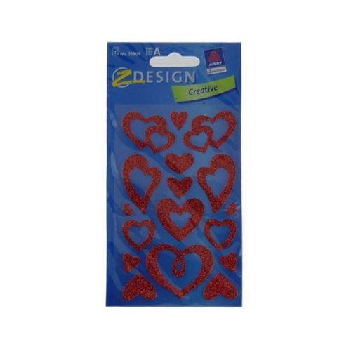 """Adesivi decorativi """"Open hearts con brillantina"""""""