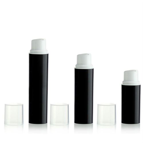 5ml ml airless pump NANO black/white