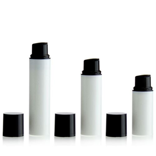5ml PP Airless Pump NANO white/black