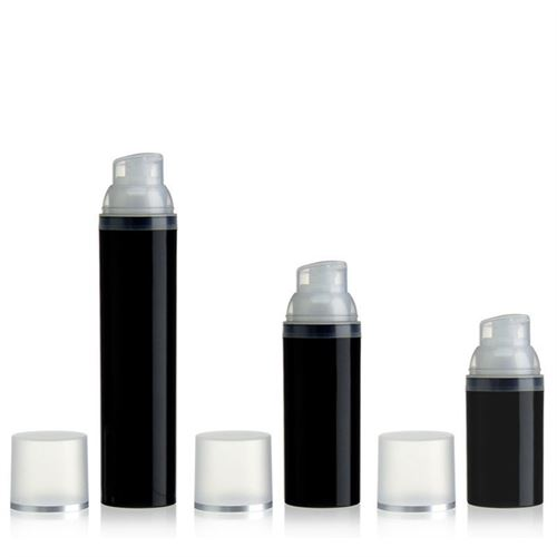 100ml Airless Dispenser black/silver line