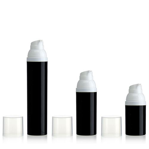 30ml airless pump black/white