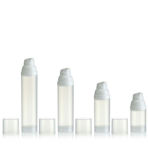 100ml airless pump natural/white