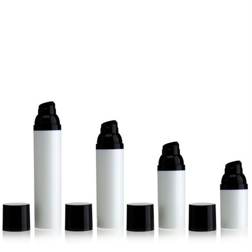100ml airless pump white/black