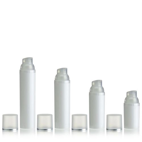 "50ml dispenser ""Airless"" white/silver line"