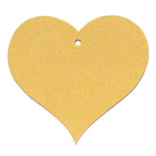 """Etichetta a ciondolo in carta """"Cuore"""" oro"""