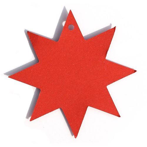 """Anhängerkärtchen """"Stern"""", rot"""