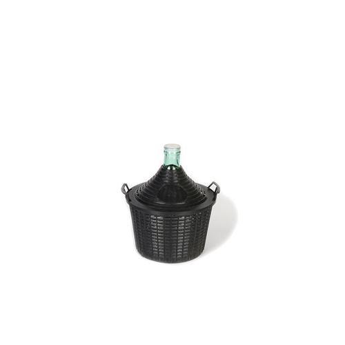 Damigiana chiara da 10 litri con cesto in plastica