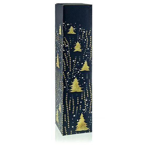 "Boite cadeau ""arbres de Noël dorés"""