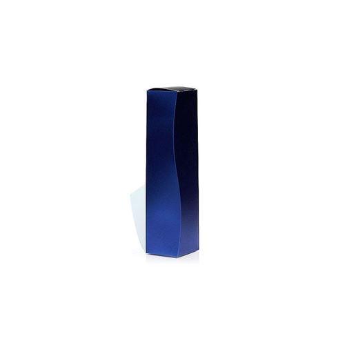 Boîte cadeau bleu-métallique
