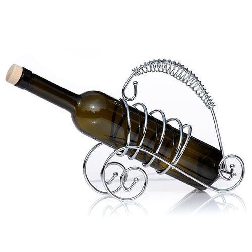 Bottle holder chromed metal